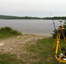 Surveying in Pic Mobert First Nation